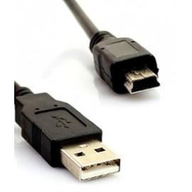 USB macho A a mini USB 5 pines