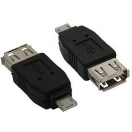 Adaptador micro USB macho A a USB hembra