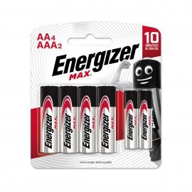 ENERGIZER ALCALINA 4AA+2AAA BL/6