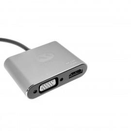 Adaptador 4 en 1 Macho USB Tipo C a VGA+HDMI+2USB