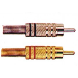 Plug RCA Metal plateado