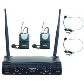 Micrófono doble de mano y cabeza inalámbrico UHF